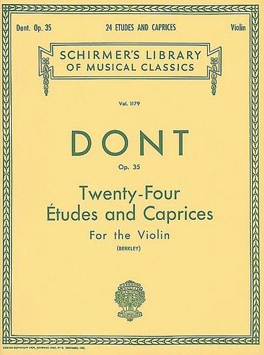 Schirmer Dont, Jakob (Berkley): 24 Etudes & Caprices, Op.35 (violin)