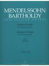 Barenreiter Mendelssohn (1844/1845): Violin Concerto in D minor (violin & piano) 2 books