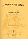 Mendelssohn, Felix: Concerto in D Minor (violin & piano)