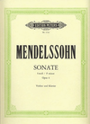 Mendelssohn, Felix (Menuhin): Violin Sonata (Violin & Piano)