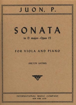 International Music Company Juon, Sonata in D op 15 Viola