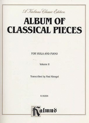 Alfred Music Klengel: Classical Pieces Vol. 2 (viola & piano)