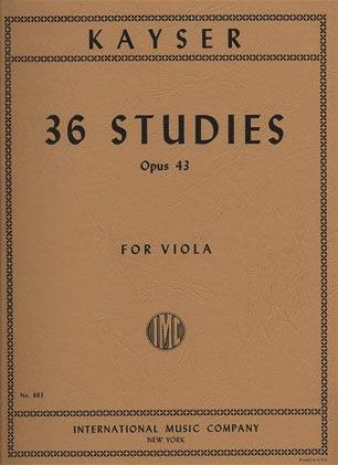 International Music Company Kayser, H.E.: 36 Studies, Op.43 (viola)