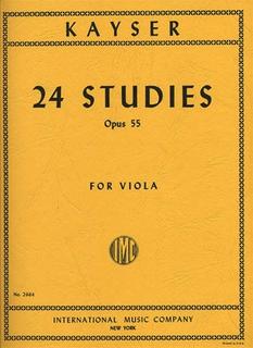 International Music Company Kayser, H.E.: 24 Studies, Op.55 (viola)