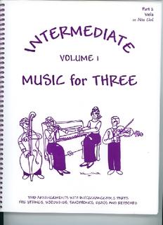 Last Resort Music Publishing Kelley, Daniel: Music for Three Intermediate Vol.1 (viola)