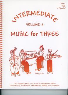 Last Resort Music Publishing Kelley, Daniel: Music for Three Intermediate Vol.2 (viola)