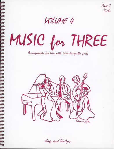 Last Resort Music Publishing Kelley, Daniel: Music for Three Vol.4 Rags & Waltzes (viola)