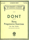HAL LEONARD Dont, Jakob: 30 Progressive Exercises for the Violin with 2nd violin accompaniment