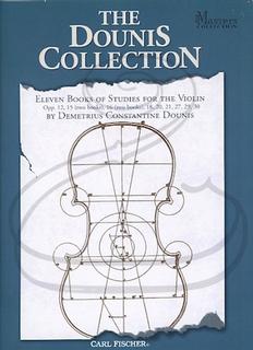 Carl Fischer Dounis: The Dounis Collection - Eleven Books of Studies for The Violin - SPIRAL-BOUND (violin) Carl Fischer
