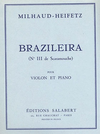 HAL LEONARD Milhaud, Darius: Braziliera #3 (violin & piano)