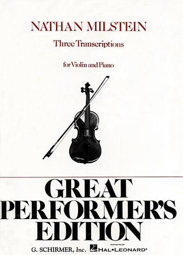 HAL LEONARD Milstein: Three Transcriptions (violin & piano) Schirmer