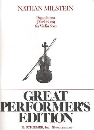 HAL LEONARD Milstein, N.: Paganinian Variations for Violin Solo (violin)