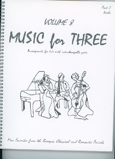 Last Resort Music Publishing Kelley, Daniel: Music for Three Vol.8 More Favorites from the Baroque, Classical & Romantic Periods (Viola)