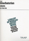 HAL LEONARD Khachaturian: Sonata for Viola Solo (viola) VAAP