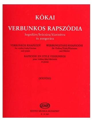 HAL LEONARD Kokai: Verbunkos Rhapsody for Viola (or violin) and piano