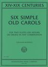 International Music Company Bastable, G.: Six Simple Old Carols - XIV-XIX Centuries (two violins)