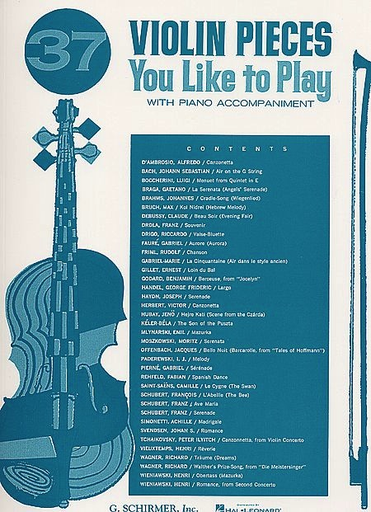 HAL LEONARD Mittell, P.: (Collection) 37 Violin Pieces You Like to Play (violin & piano)
