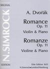 HAL LEONARD Dvorak, A.: Romance Op.11 (violin & piano)
