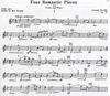 HAL LEONARD Dvorak, Antonin: Four Romantic Pieces for Violin & Piano