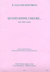 Carl Fischer Montbrun, R. Gallois: Quand Sonne L'Heure... (violin & piano)
