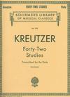 Schirmer Kreutzer, R. (Blumenau): 42 Studies transcribed for the Viola