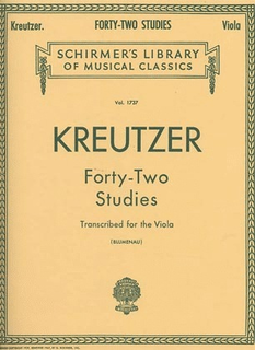 Schirmer Kreutzer, R. (Blumenau): 42 Studies transcribed for the Viola