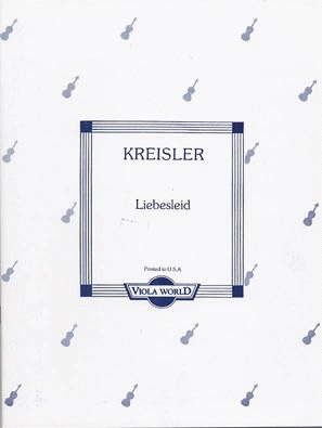 Kreisler, Fritz (Arnold): Liebesleid (viola & piano)