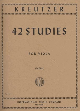 International Music Company Kreutzer, Rodolph (Pagel): 42 Studies for Viola
