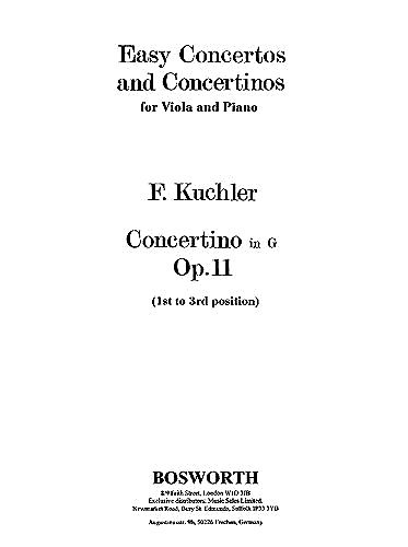 HAL LEONARD Kuchler: Concertino in G Op. 11 for viola and piano