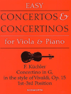 HAL LEONARD Kuchler: Concertino in G, Op. 15 for viola and piano