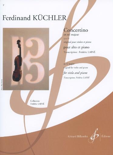 Carl Fischer Kuchler, Ferdinand (Laine): Concertino in G Major (viola & piano)