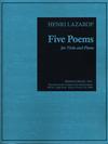 Carl Fischer Lazarof, Henri: Five Poems (viola & piano)
