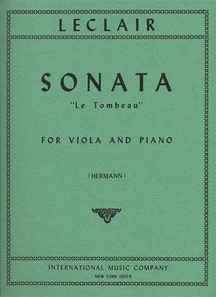 International Music Company Leclair, Le Tombeau, viola