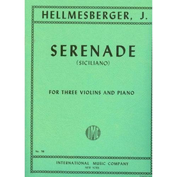 International Music Company Hellmesberger, Joseph: Serenade (Siciliano) for three violins & piano