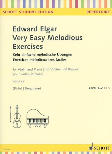 HAL LEONARD Elgar (Birtel/Bergmann): Very Easy Melodious Exercises, Op.22 (violin & piano)