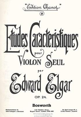 HAL LEONARD Elgar, E.: Etudes Caracteristiques Op. 24 (violin)