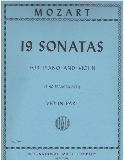 International Music Company Mozart, W.A. (Flesch-Schnabel): 19 Sonatas (Violin & Piano)