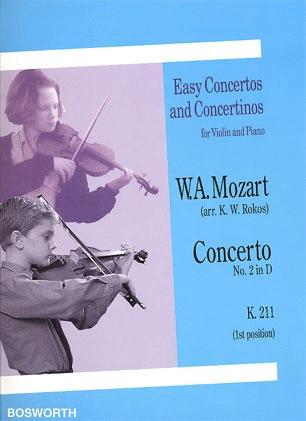 Bosworth Mozart, W.A.: Concerto #2 in D K.211 (Violin & Piano)