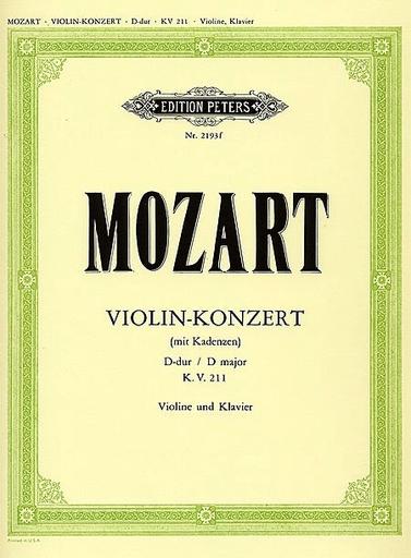 Mozart, W.A.: Violin Concerto No. 2 K. 211 (violin & piano)