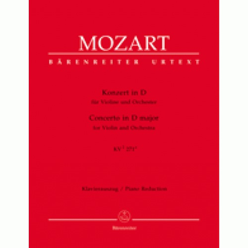 Barenreiter Mozart, W.A.: Violin Concerto in D KV271 (violin & piano)