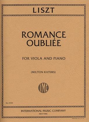International Music Company Liszt, Franz: Romance Oubliee (viola & piano) IMC