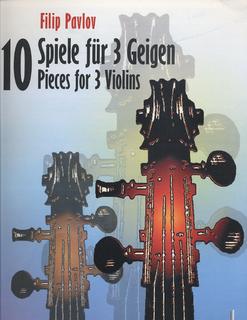 HAL LEONARD Pavlov: 10 Pieces for 3 Violins (3 violins)