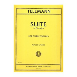 International Music Company Telemann, G.P.: Suite in Bb Major (3 violins) IMC