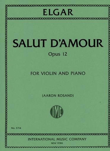 International Music Company Elgar (Rosand): Salut D'Amour, Op.12 (violin & piano)