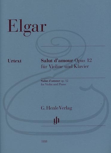 HAL LEONARD Elgar (Marshall-Luck): Salut d'amour, Op.12 - URTEXT (violin & piano) Henle