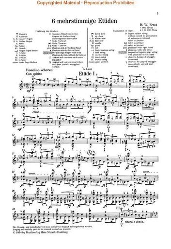HAL LEONARD Ernst, W.E.: Six Polyphonic Etudes incl. ''The Last Rose'' (Violin Solo)
