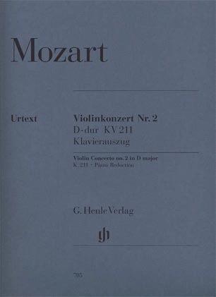HAL LEONARD Mozart, W.A. (Seiffert, ed.): Concerto No. 2 in D Major, KV 211, urtext (violin & piano)