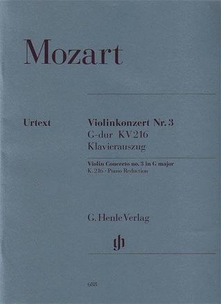 HAL LEONARD Mozart (Seiffert): Concerto No.3 in G Major, K.216 - URTEXT (violin & piano reduction)