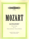 Mozart, W.A. (Oistrach): Concerto No.3 in G Op.64 K.216 (violin & piano) PETERS