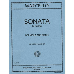 International Music Company Marcello, Benedetto: Sonata in e minor (viola & piano)